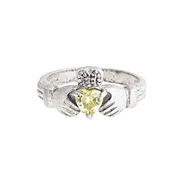 Sterling Silver 0.35 Ct Peridot Ring Size 5.5