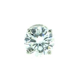Platinum Solitaire Round Brilliant Diamond Earring
