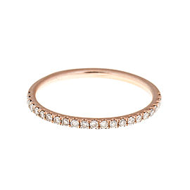 14K Rose Gold 0.25 Ct Diamond Eternity Band Ring Size 6.5