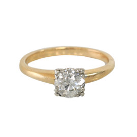 14k Yellow Gold Diamond Engagement Ring Size 5.5