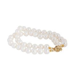 14k Yellow Gold Wrap Pearl Bracelet