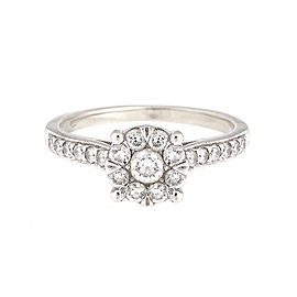 14K White Gold 1.25 Ct Diamond Cluster Ring Size 6