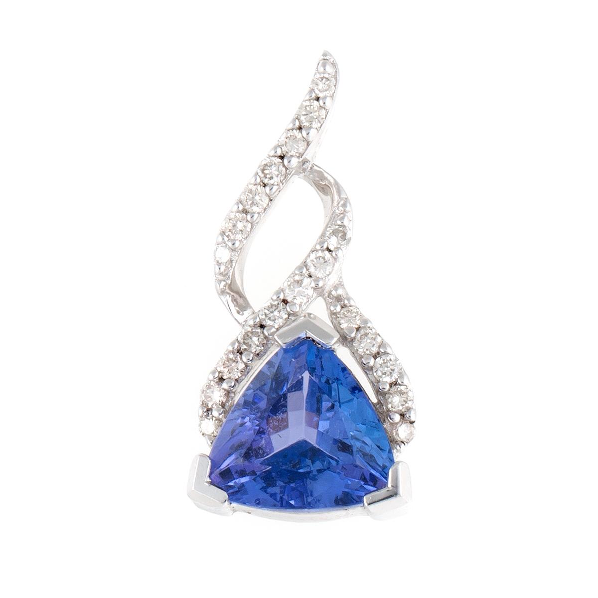 "Image of ""Sterling Silver Diamond and Tanzinite Pendant"""