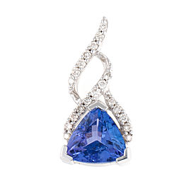 Sterling Silver Diamond and Tanzinite Pendant