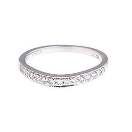 14K White Gold 0.45 Ct Diamond Eternity Band Ring Size 6.5