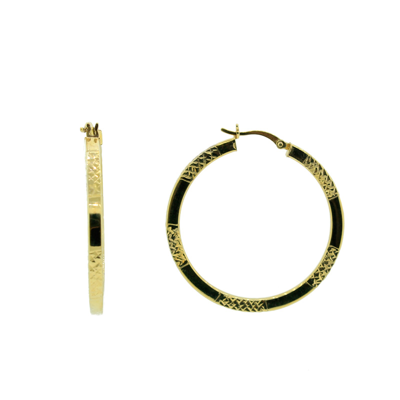 "Image of ""Large Gold Plated Round Hoops"""