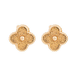 Van Cleef & Arpels 18K Yellow Gold Alhambra Earrings