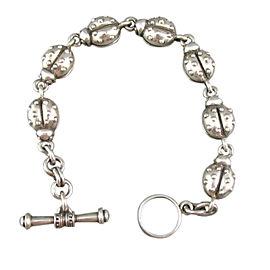 Kieselstein Cord Sterling Silver Ladybug Bracelet