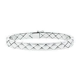 Chanel 18K White Gold Quilted Bracelet