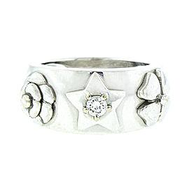 Chanel 18K White Gold 3 Symbol Comet Diamond Ring
