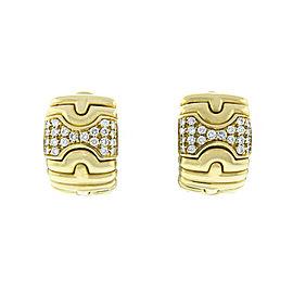 Bulgari 18K Yellow Gold Parentesi Diamond Earrings