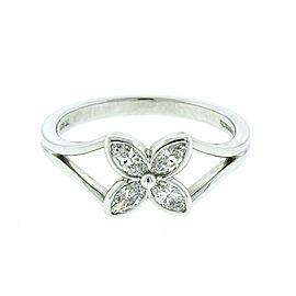 Tiffany & Co. Platinum and Diamond Flower Ring