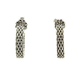 Tiffany & Co. Sterling Silver Mesh Earrings