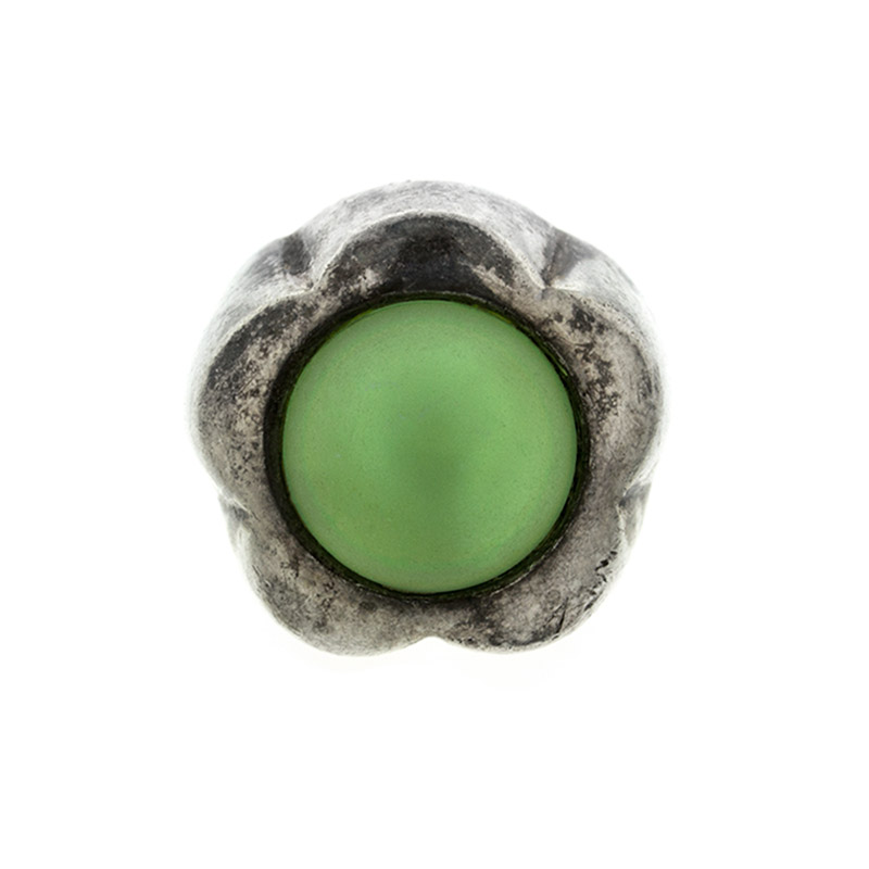 "Image of ""Ladies Sterling Silver Green Glass Ring"""