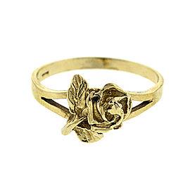 14k Yellow Gold Lady's Rose Ring