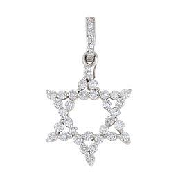18K White Gold 1.75ct. Diamond Star of David Pendant