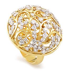 Lani Fratelli 18K Yellow Gold Diamond Lattice Ring