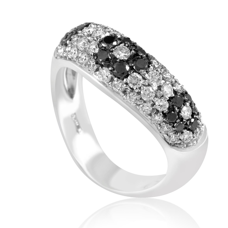 "Image of ""Lani Fratelli 18K White Gold 1.17ct Black & White Diamond Flower Ring"""
