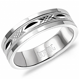 "Image of ""Crown Ring 14K White Gold Wedding Band Ring Size 10"""
