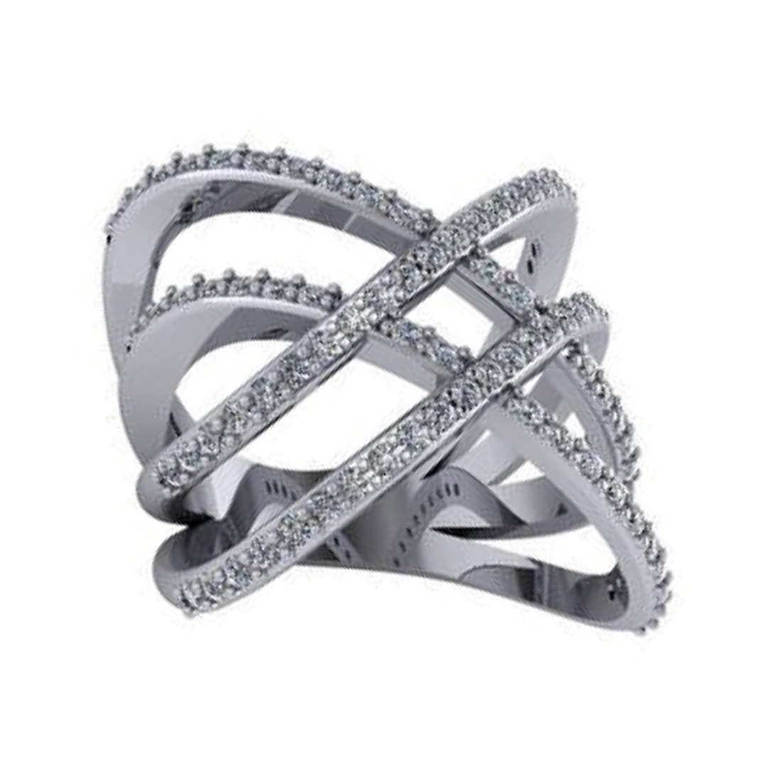 "Image of ""Double Criss Cross Ring"""