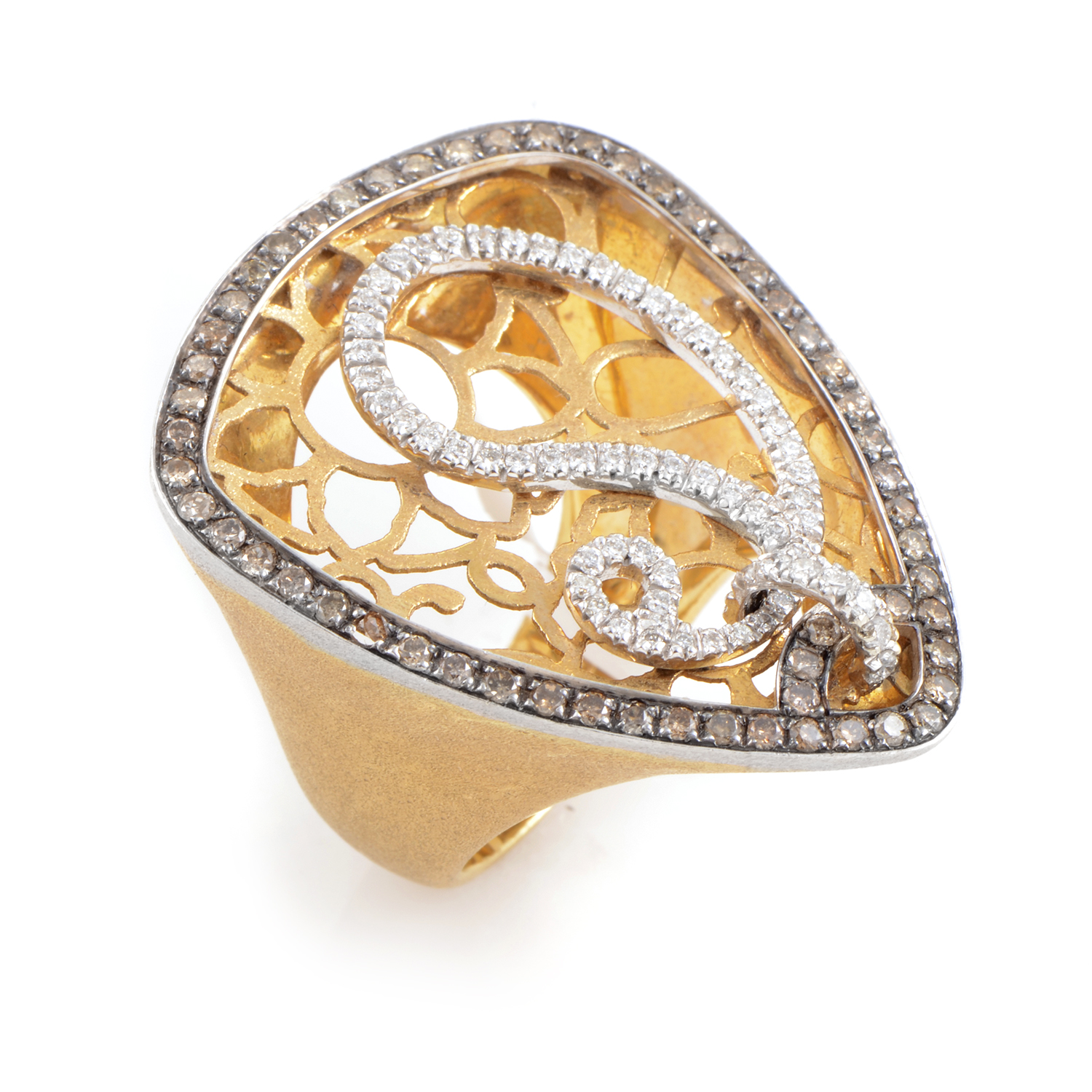 "Image of ""LeaderLine 18K Multi-Tone Gold Diamond Ring"""