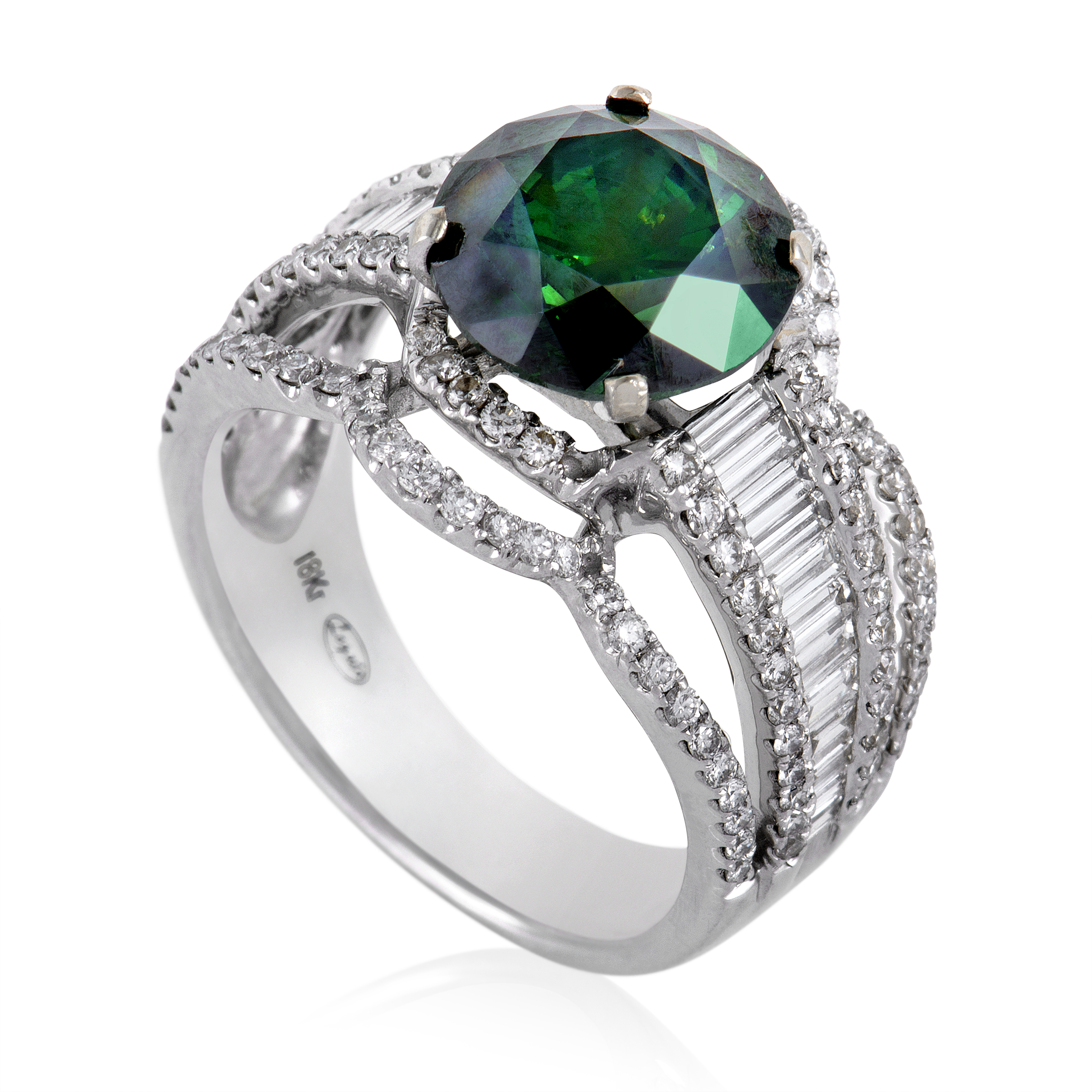 "Image of ""Legato 18K White Gold with Diamond Ring Size 7.25"""