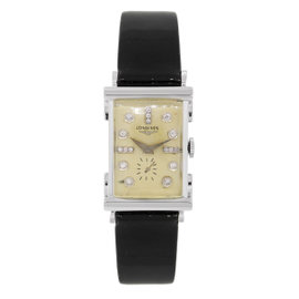 Longines White Gold Diamond Dial Vintage Womens Watch