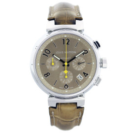 Louis Vuitton Tambour Q1122 Chronograph Mens Watch