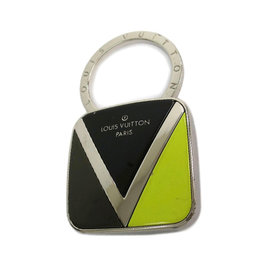 Louis Vuitton Silver Tone Metal Twist Key Ring