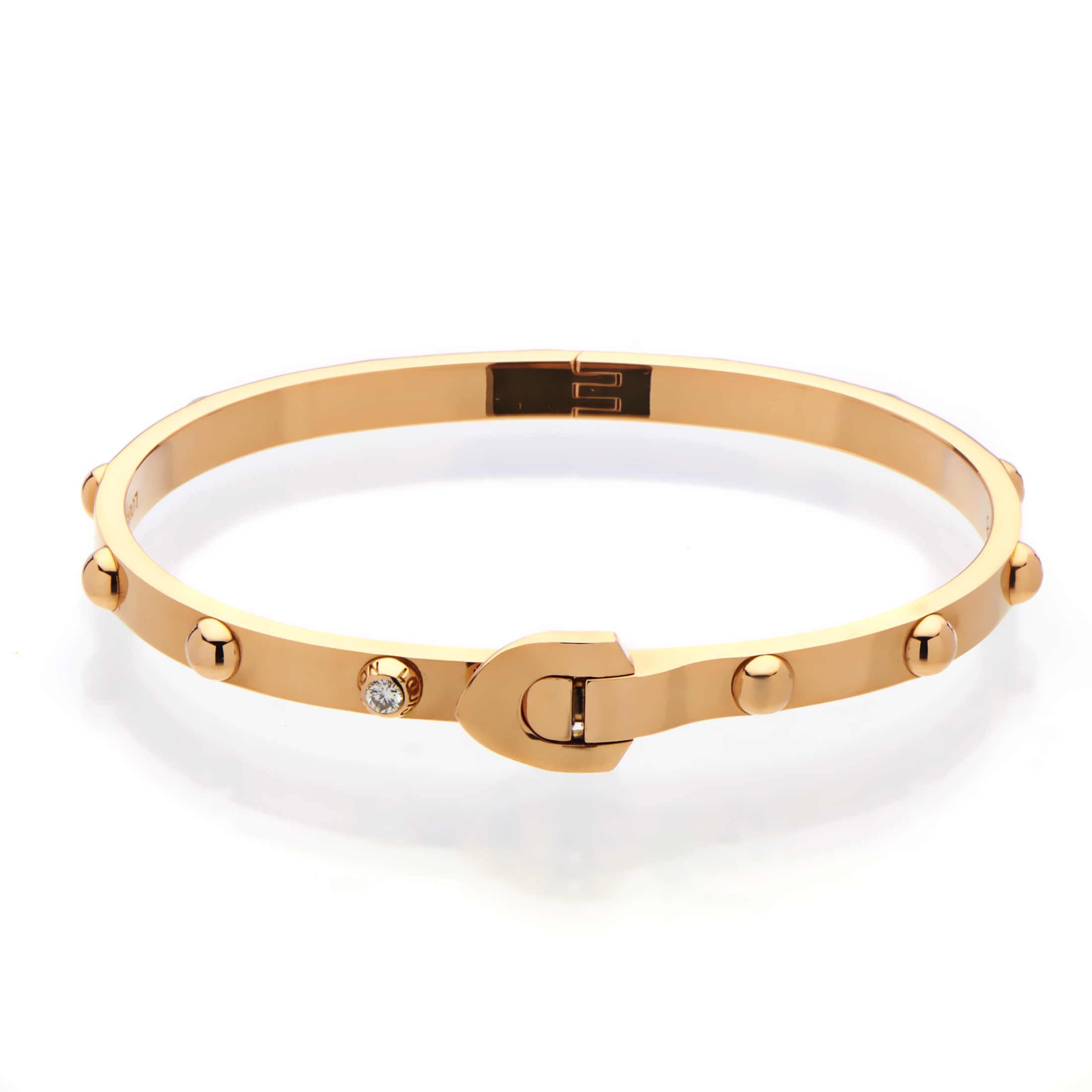 "Image of ""Louis Vuitton 18K Rose Gold Diamond Bangle Bracelet"""
