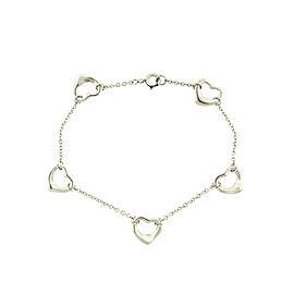 Tiffany & Co. Sterling Silver Elsa Peretti Open Heart Bracelet