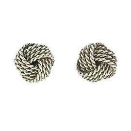 Tiffany & Co. Sterling Silver Knot Earrings