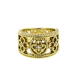 Judith Ripka 14k Yellow Gold Diamond Band Ring