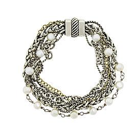 David Yurman Multi Chain Pearl Bracelet