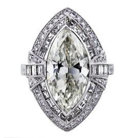 Platinum Diamond Engagement Ring Size 6.5