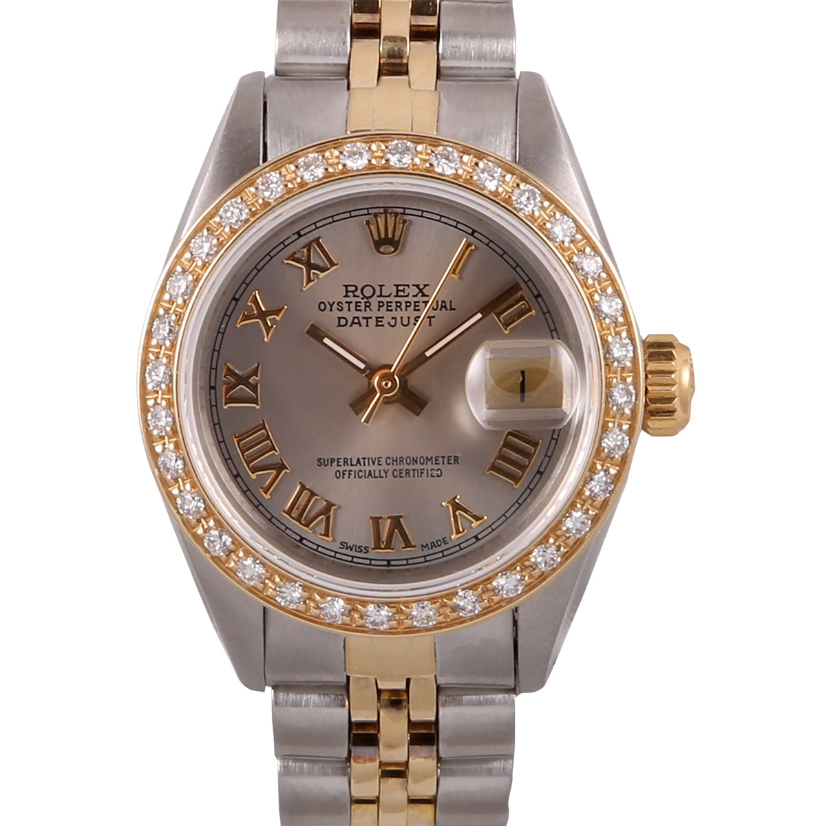 "Image of ""Rolex Datejust Stainless Steel & 18k Yellow Gold and Diamond Salmon"""