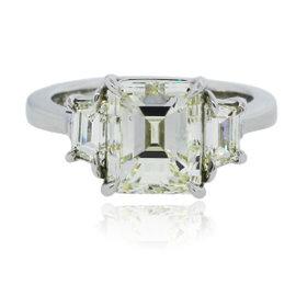 Platinum with 4ct Diamond Engagement Ring Size 6.5