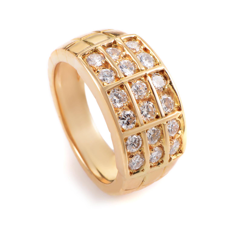 """Image of """"Mauboussin 18K Yellow Gold Diamond Band Ring"""""""
