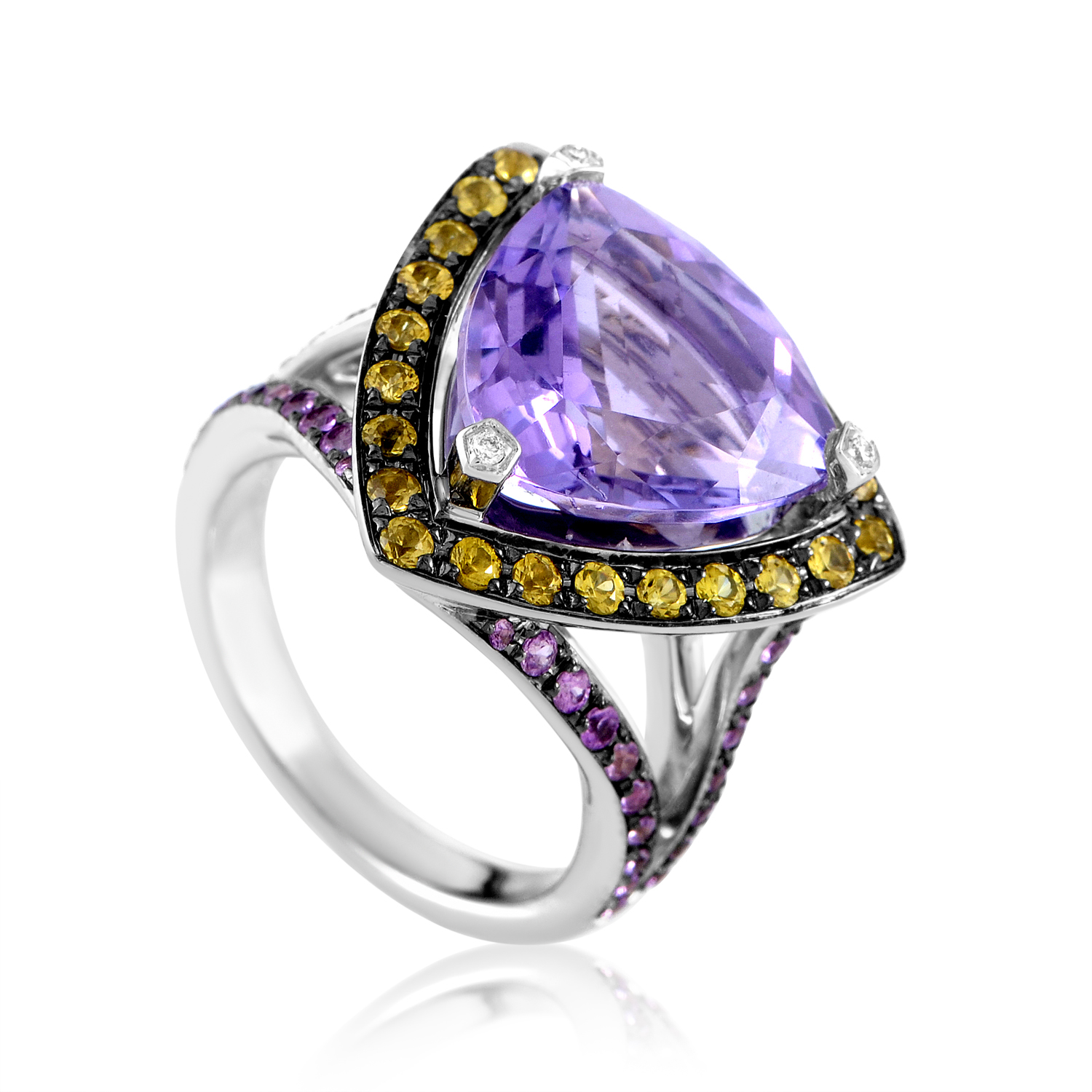 "Image of ""Mauboussin Multi-Stone Wide Arching Band Ring"""