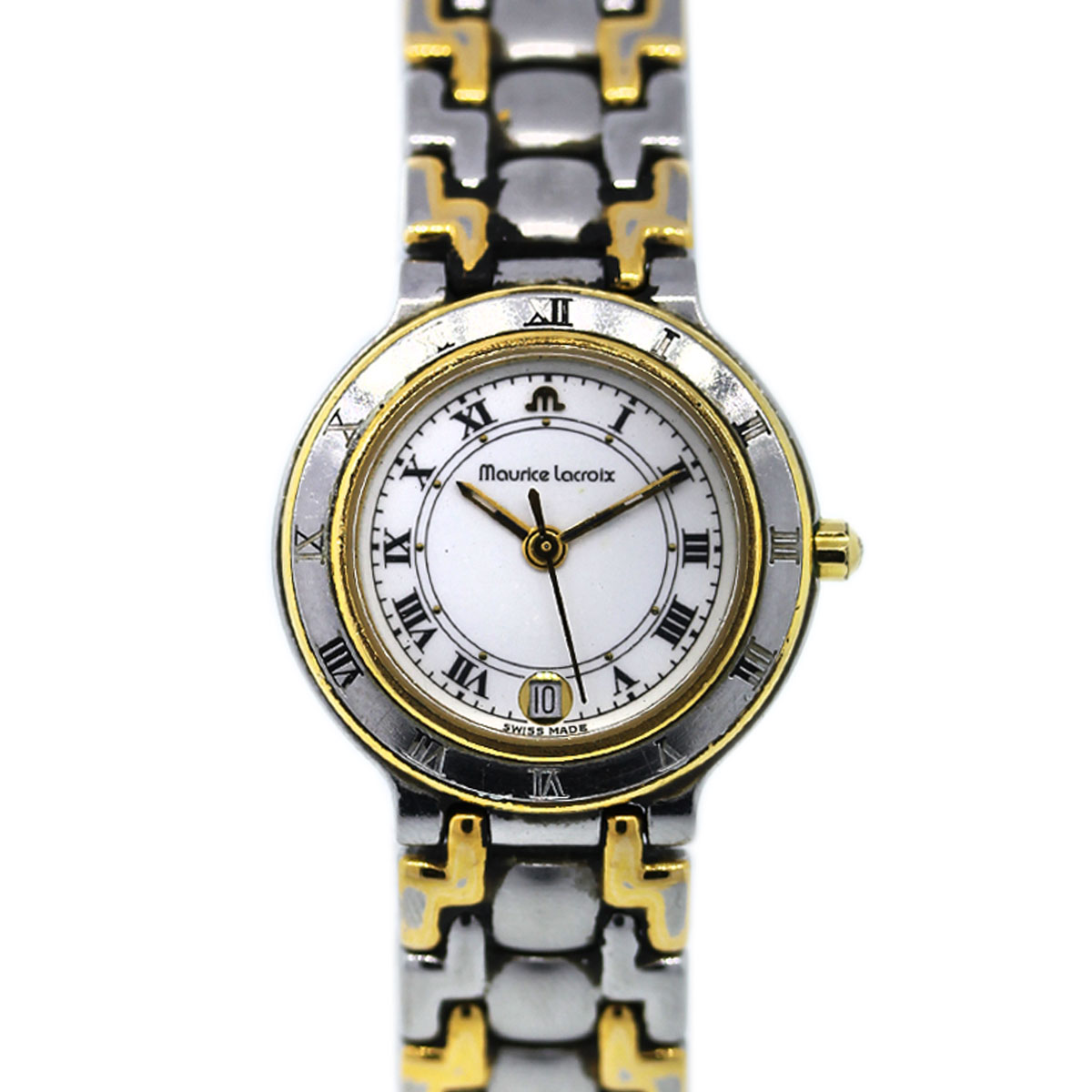 "Image of ""Maurice Lacroix 75416 Stainless Steel and Gold Plated 24mm Womens"""