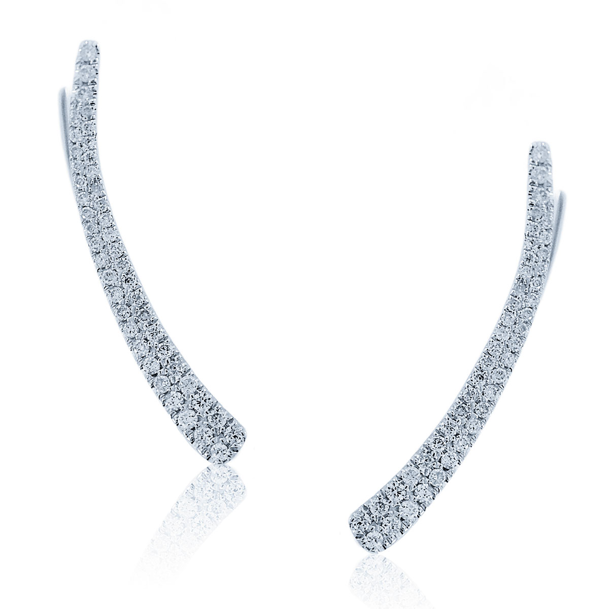 "Image of ""Meira T 14K White Gold 0.43ctw Diamond Ear Cuffs"""