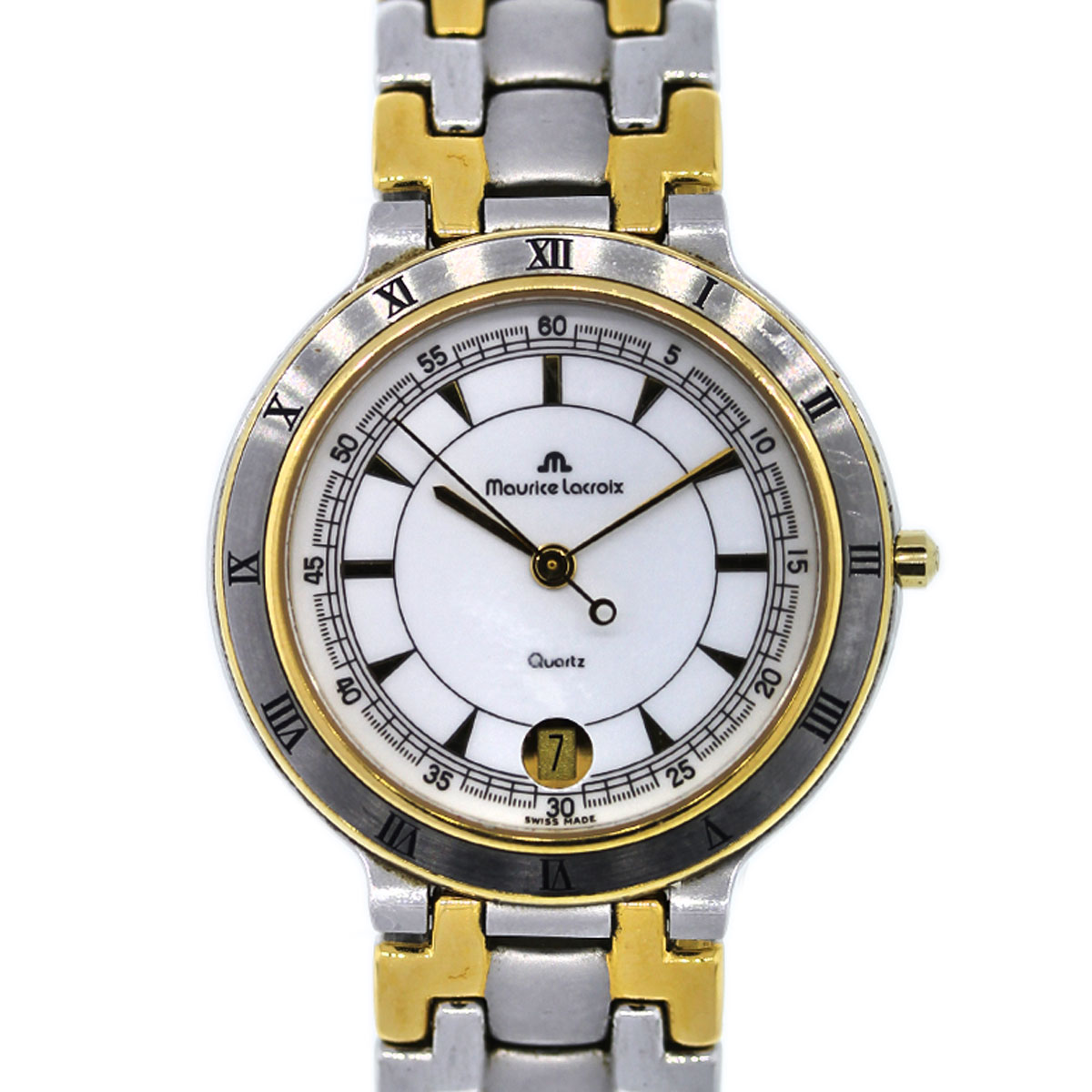"Image of ""Maurice Lacroix 95417 Two Tone Stainless Steel and Gold Plated 34mm"""