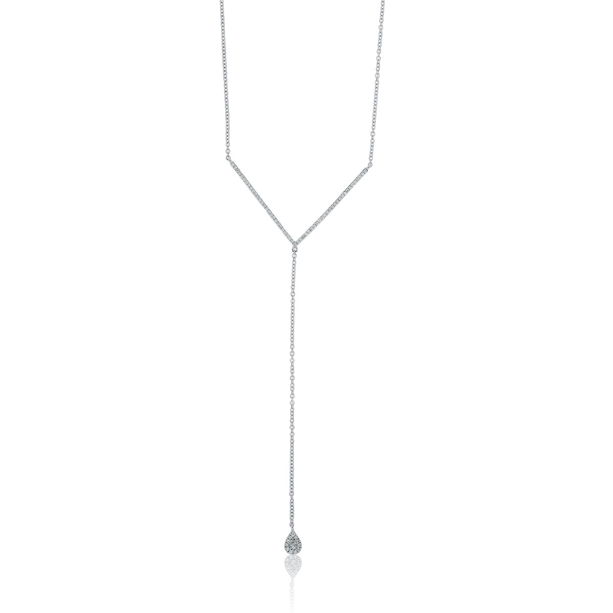 "Image of ""Meira T 14K White Gold 0.37ct Diamond Drop Necklace"""