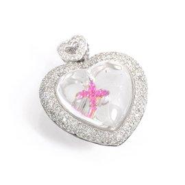 18K White & Rose Gold 1.79ct Diamond Heart Pendant