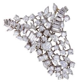 Platinum and Diamond Cluster Brooch/Pendant