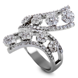 18K White Gold with 2.25ct Diamond Ring Size 9