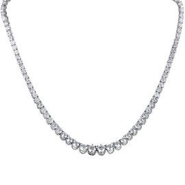 18K White Gold & Diamond Strand Choker Necklace