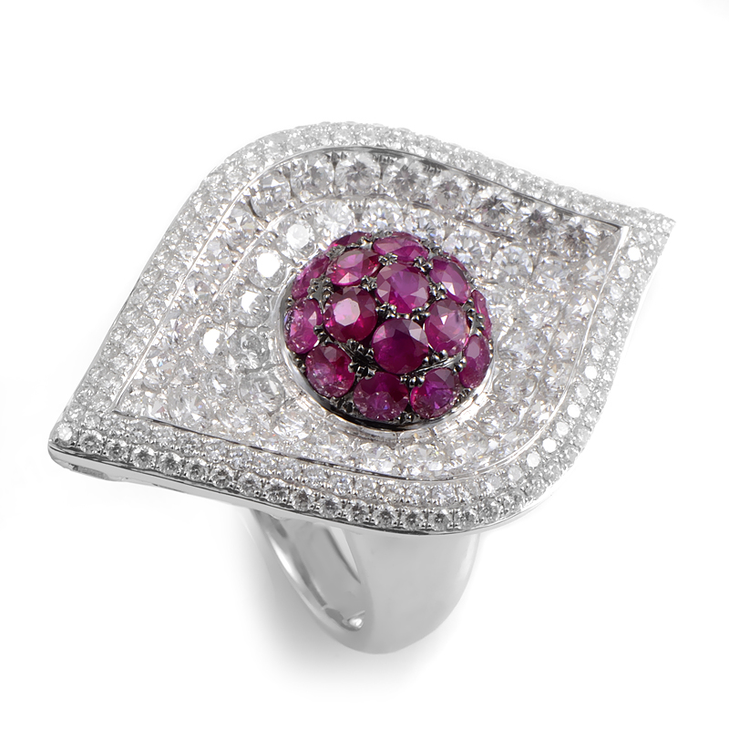 "Image of ""French Collection 18K White Gold Ruby Ring"""