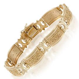 14K Yellow Gold Carved Bracelet