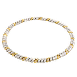 18K Yellow and White Gold Diamond Collar Necklace